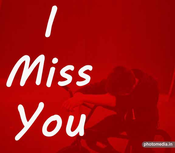 I miss you sad photo