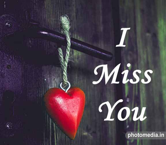 i miss you heart pic