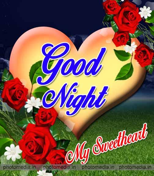 good night heart image