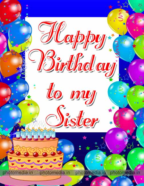 happy birthday image for quote sister