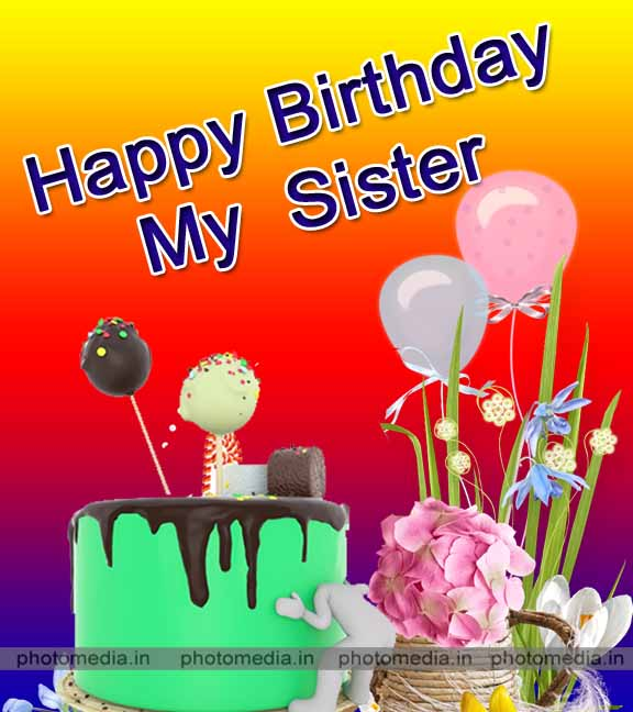 happy birthday sister status for facebook