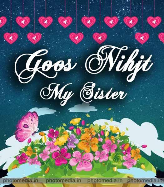 good night sister greeting
