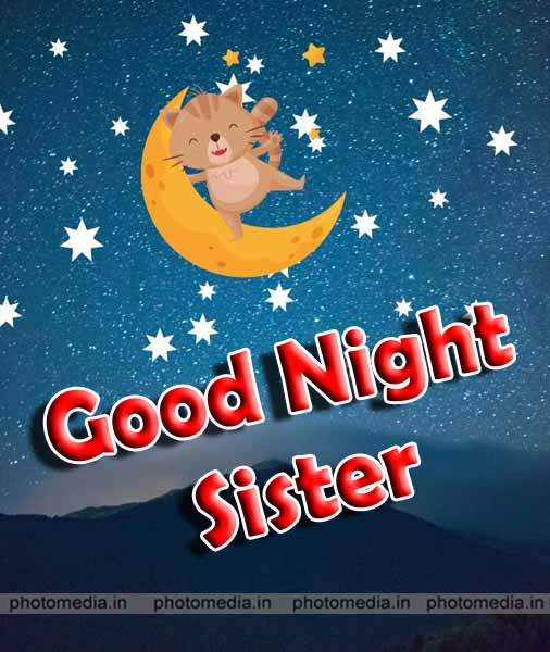 good night sister pic with moon