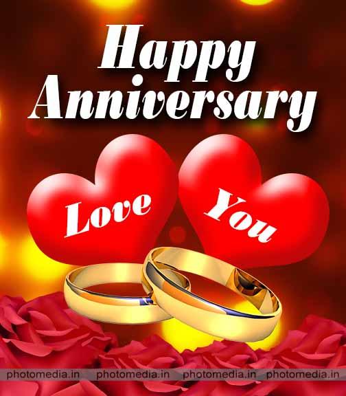 happy wedding anniversary photo