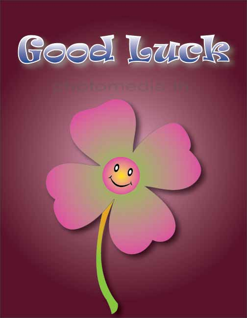 good luck image with flower