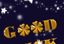 good luck image with star