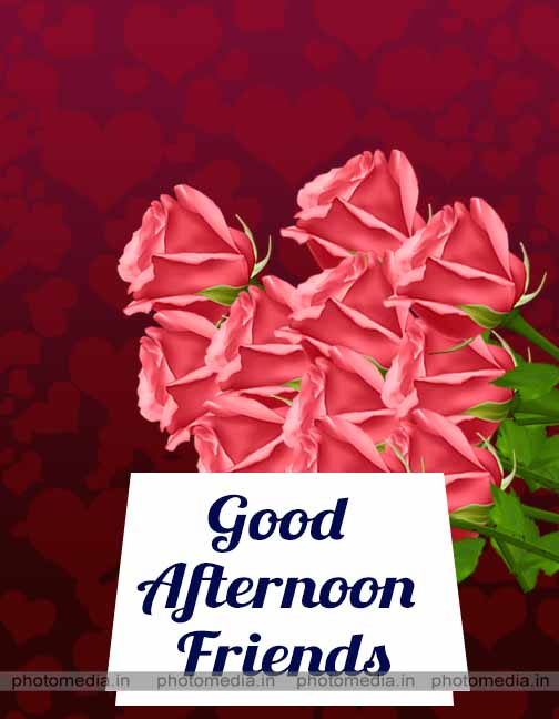 good afternoon for friends image