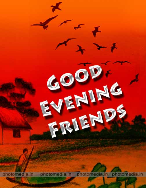 good evening for friends image