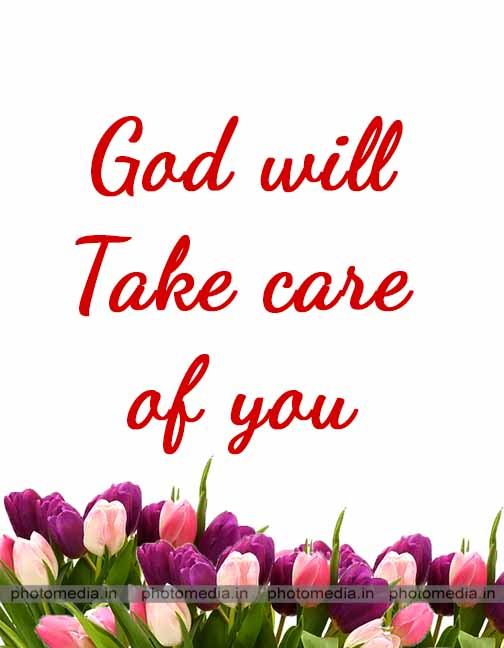 take care god image