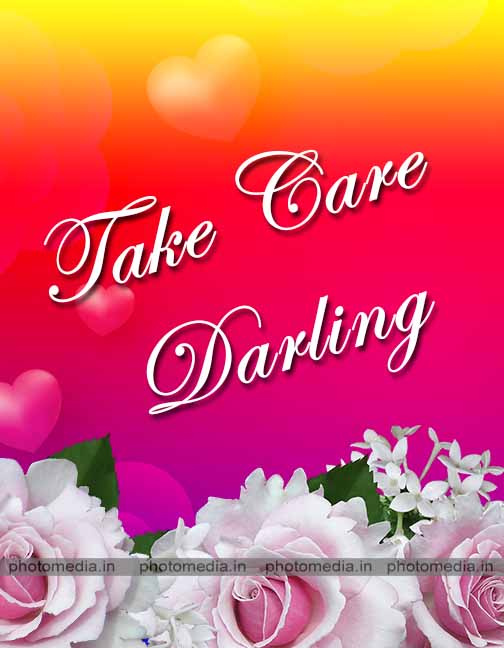 take care image with flower